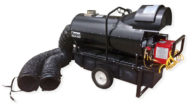 Flagro FVO-400 Portable Indirect Fired Oil Aircraft Heater