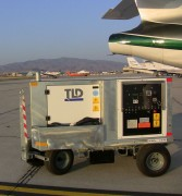 Side View: TLD GPU-28-CUP 28V DC Diesel Aircraft Ground Power Unit (GPU)