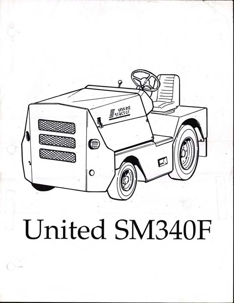 United Sm340f Tow Tractor Manual