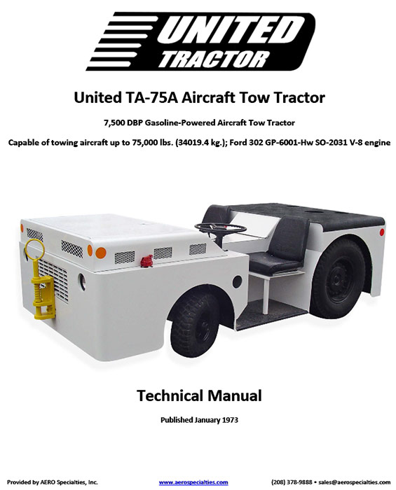 United Ta-75a Aircraft Tow Tractor Manual