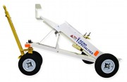 Side Profile, AERO 3-Bottle Aircraft Oxygen or Nitrogen Service Cart Trailer