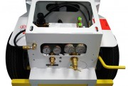 Closeup of Booster & Regulator System: AERO 2-Bottle Aircraft Oxygen Service Cart