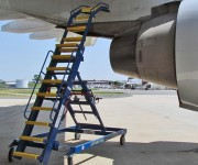 In Use: Liftsafe DF071554-06S Aircraft Engine Access J Stand