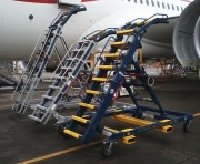 Alongside other stands: Liftsafe DF071554-06S Aircraft Engine Access J Stand