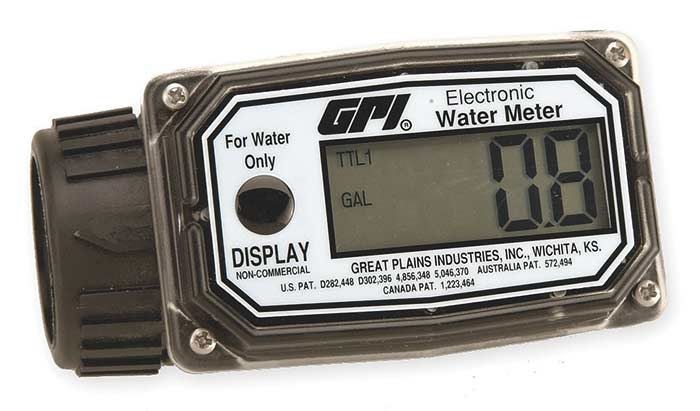 Electronic Flow Meter : Gpi inch nylon digital water flow meter gpm aero