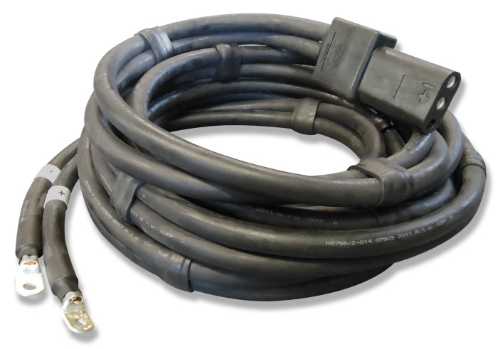 28V DC Ground Power Unit Output Cable Assembly (15, 20, 30, 40, 50, 60 ft   lengths)