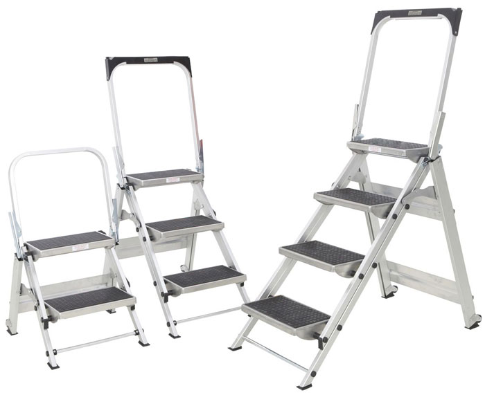 Industrial Step Ladder 2 3 4 Steps Aero Specialties