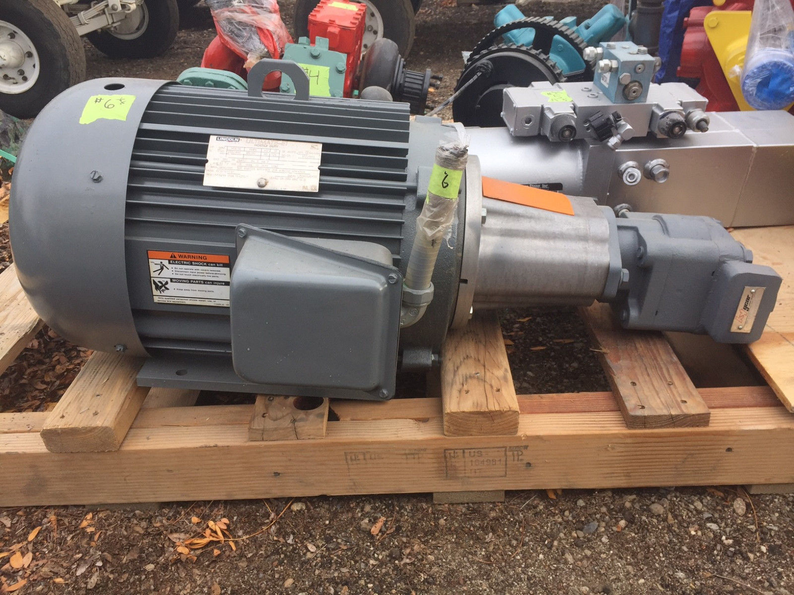 Lincoln deicer hydraulic pump motor assembly 3 phase for Hydraulic pump with motor