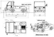 TLD TMX-50 Aircraft Tow Tractor (Dimensions)