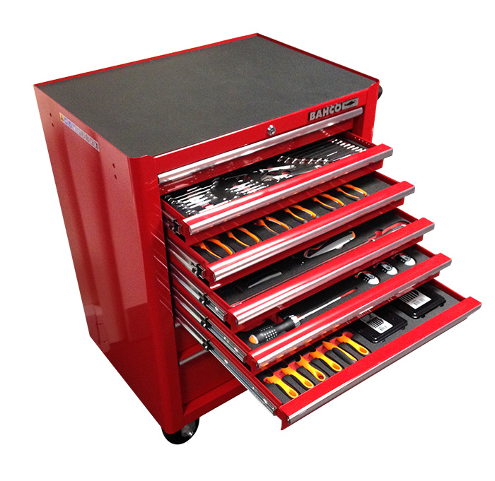 Red Box Rbi9200c Aircraft Mechanic Workshop Tool Cabinet 243 Tools